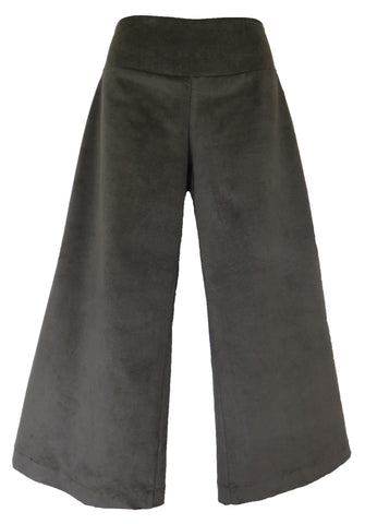 BOOT TOP CROP - 3 COLOURS CORDUROY WIDE LEG PANTS