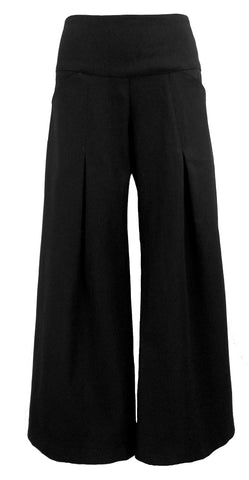 PLEAT PANTS - BLACKEST BLACK HEAVY DENIM