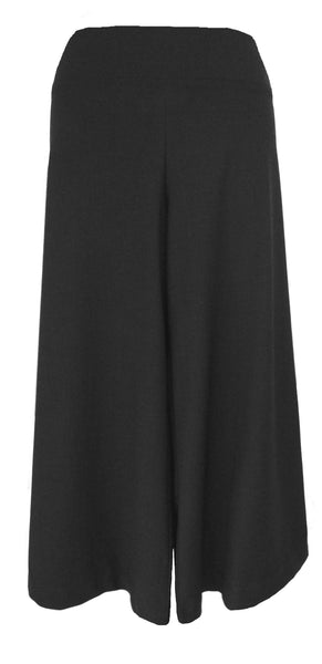 PALAZZO CROP PANTS - LIGHTWEIGHT STRETCH WOOL