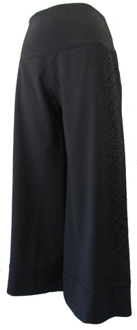 WOOL LACE PANEL PANTS