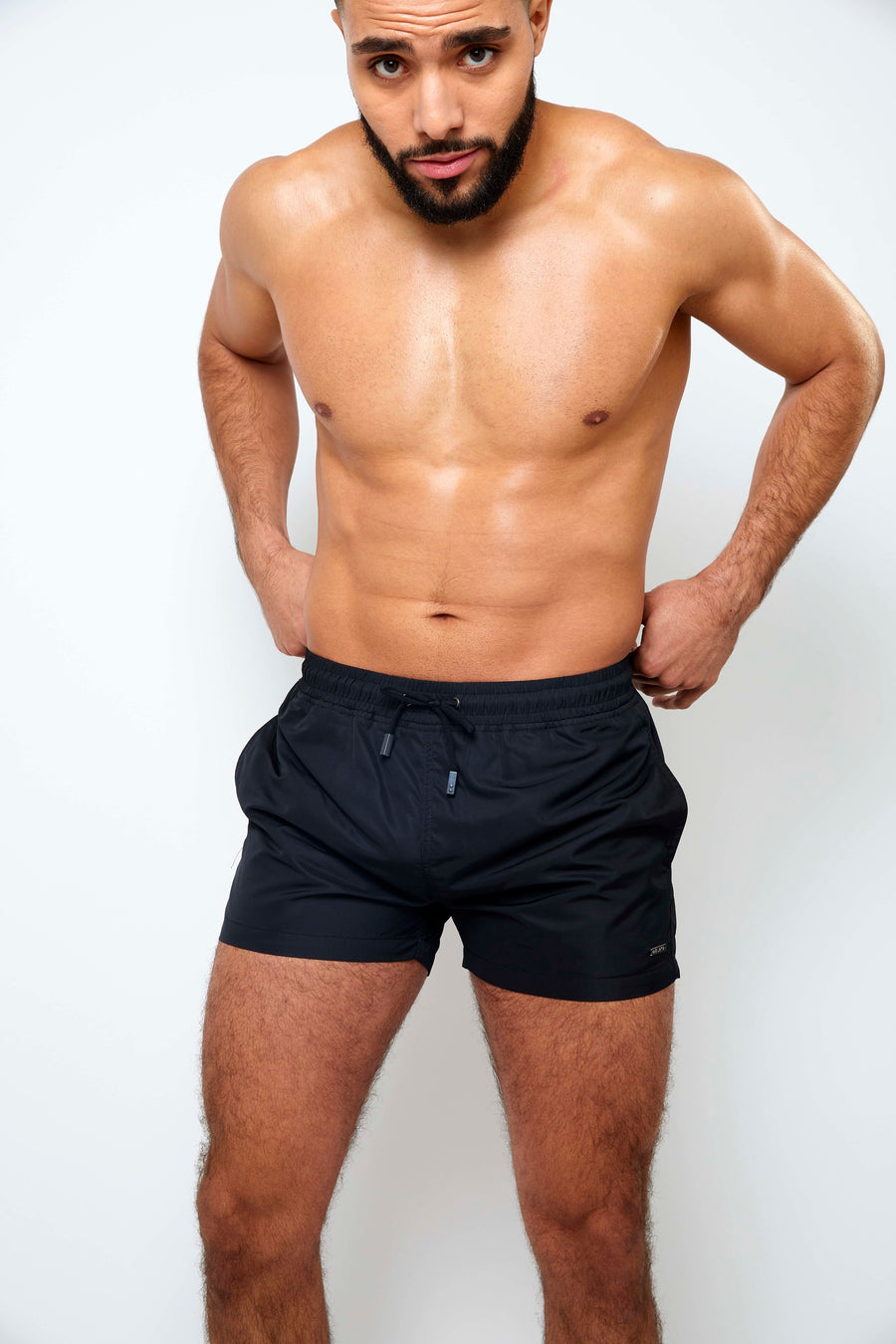 Swim Shorts - Black - Azuaya