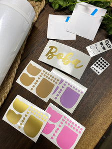 DIY Craft Sticker Pack - Bubble Tea