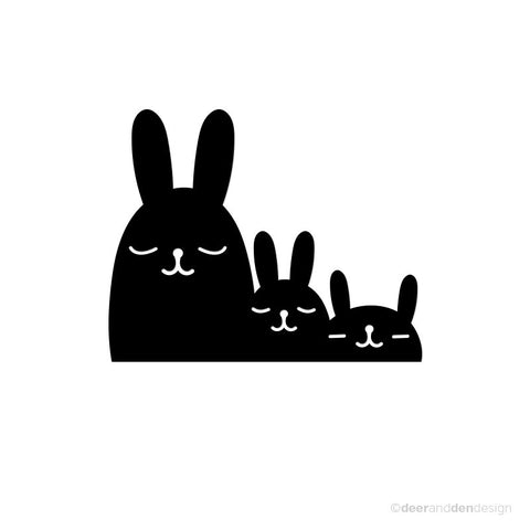 designer vinyl series - Bunny Family (set of 2 pcs)