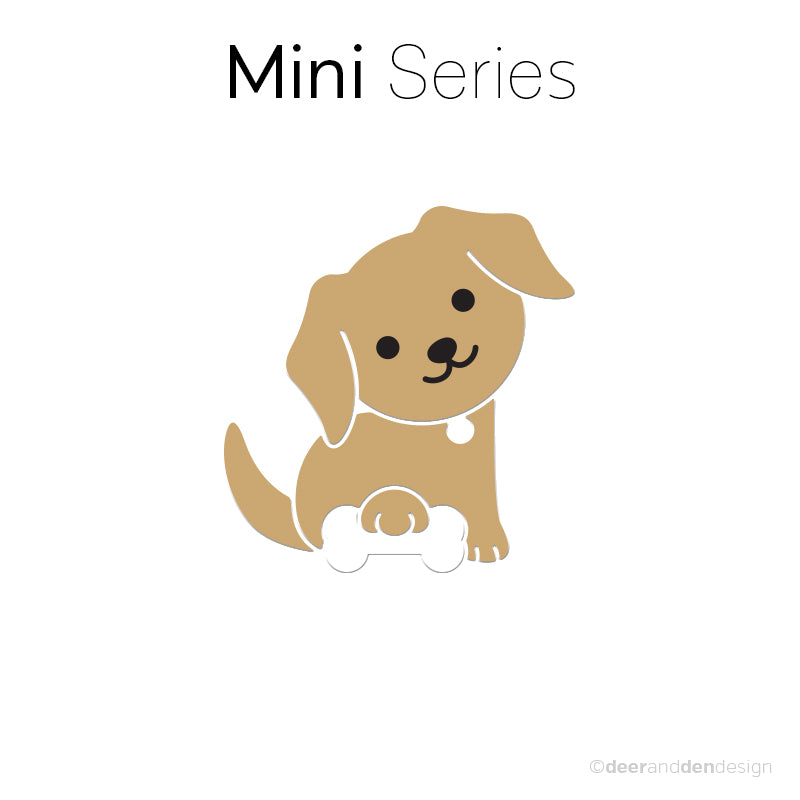 Mini designer vinyl series - Retriever