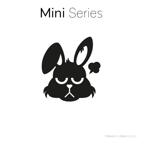 Mini designer vinyl series - Grumpy Rabbit Junior