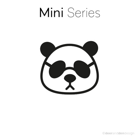 Mini designer vinyl series - Panda Junior