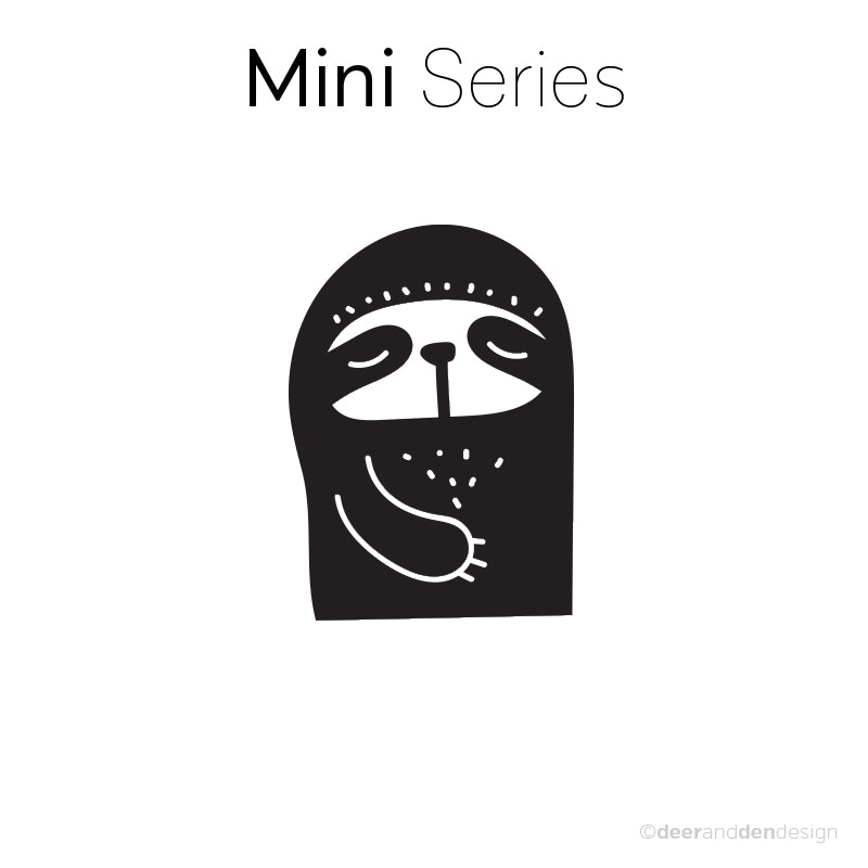 Mini designer vinyl series - Doodle Sloth