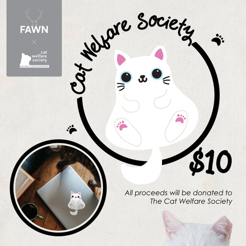 Fawn Products x Cat Welfare Society : Polar Bear the Fat White Cat