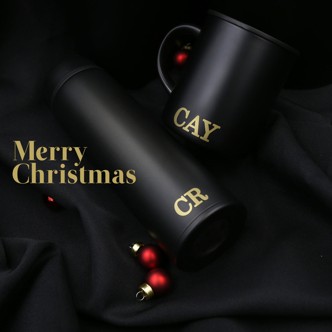 Thermos® Gift Set (Tumbler & Mug) with Complimentary Initials Customisation