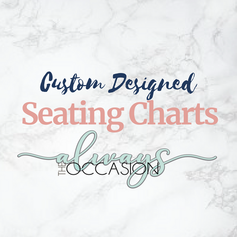 Custom Designed Seating Chart Poster