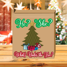 Load image into Gallery viewer, What's under the tree? Gender Reveal Box