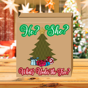 What's under the tree? Gender Reveal Box