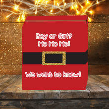 Load image into Gallery viewer, Ho Ho Ho Santa Knows Gender Reveal Box