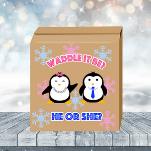 Waddle it be Gender Reveal Box