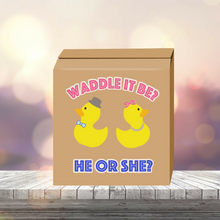 Load image into Gallery viewer, Waddle it be Gender Reveal Box