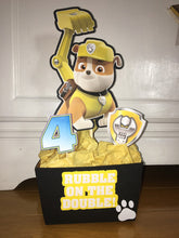 Load image into Gallery viewer, paw patrol centerpieces - chase party decor - marshall birthday - rubble - rocky - skye - zuma -