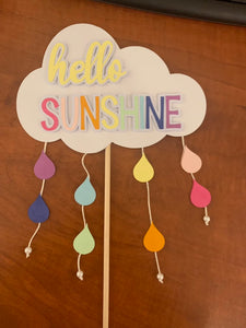 Hello sunshine cake toppers