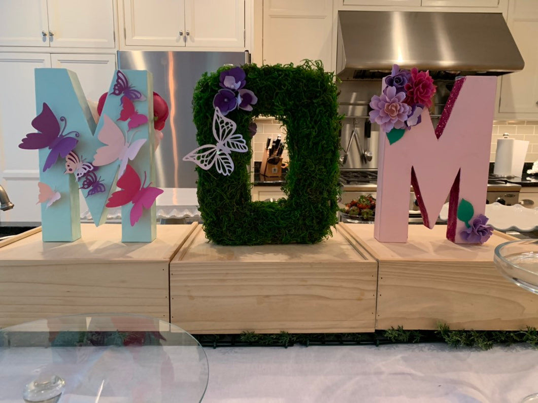 Garden Floral Stand Up Letters
