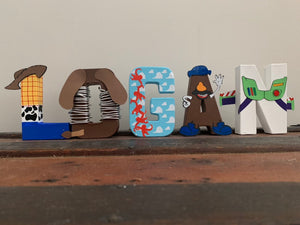 toy story letter - party decor - stand up numbers - dessert table - newborn photo shoot - buzz - woody - cloud wallpaper - personalized gift