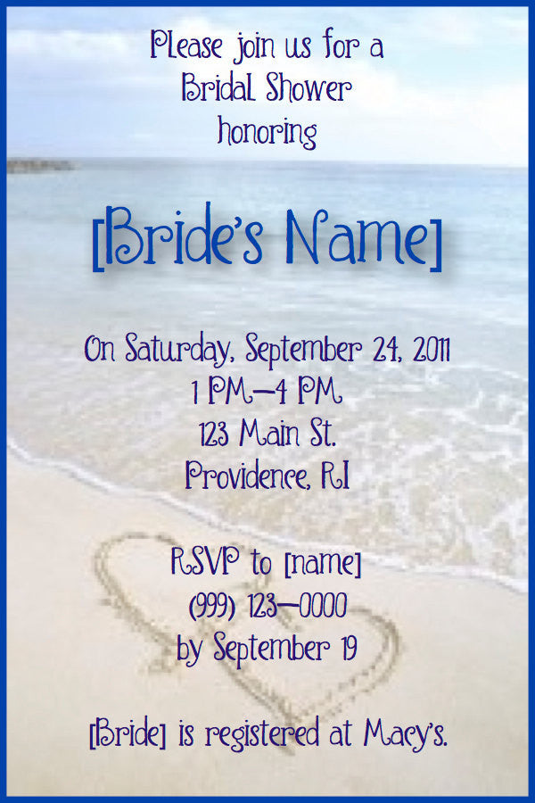 Beach bridal Shower Invitations AlwaysTheOccasion – Beach Wedding Shower Invitations
