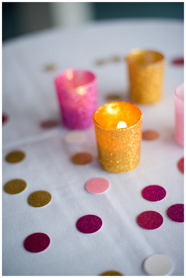 Glitter Votive Candle Holders