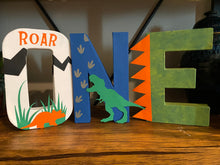Load image into Gallery viewer, Dinosaur theme Stand Up Letters