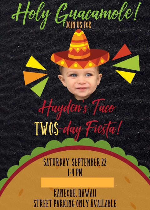 Taco Twos-Day Invitations