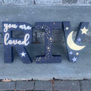 Night Sky Stand Up Letters