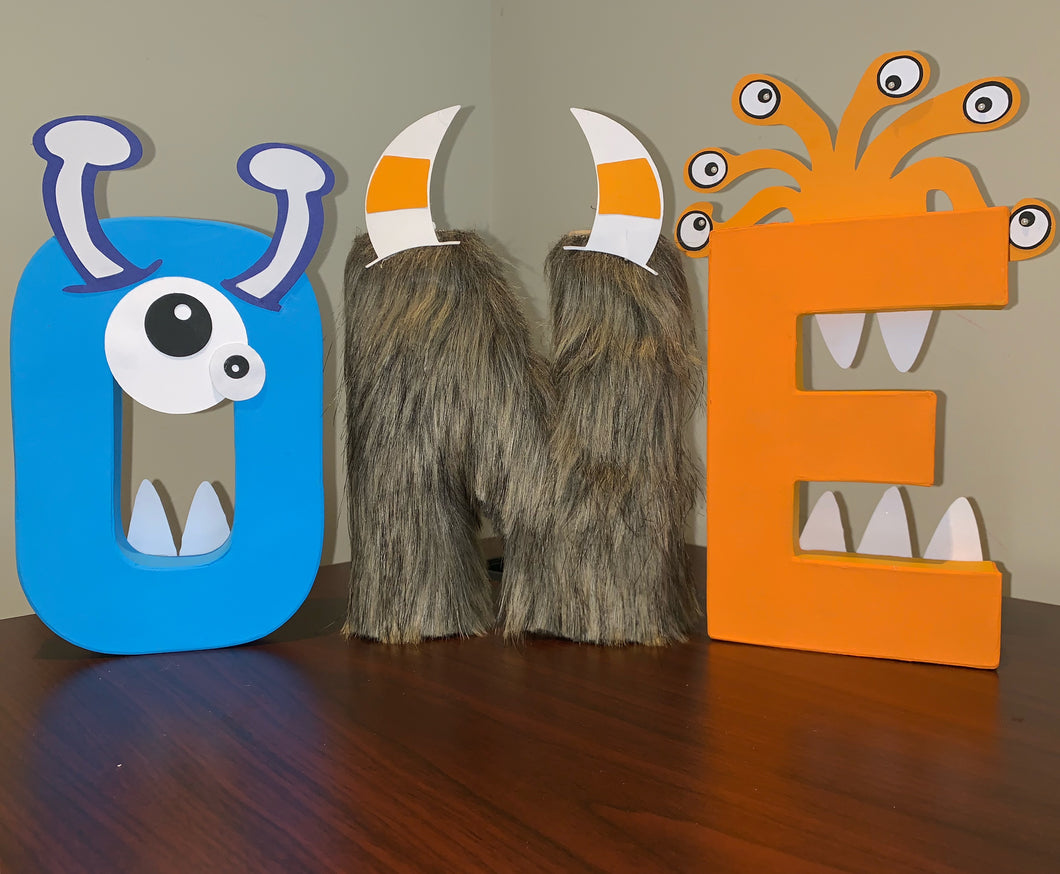 Monster Themed Stand Up Letters