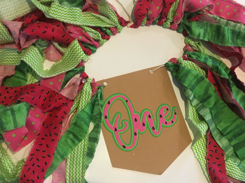 Watermelon Fabric Banner