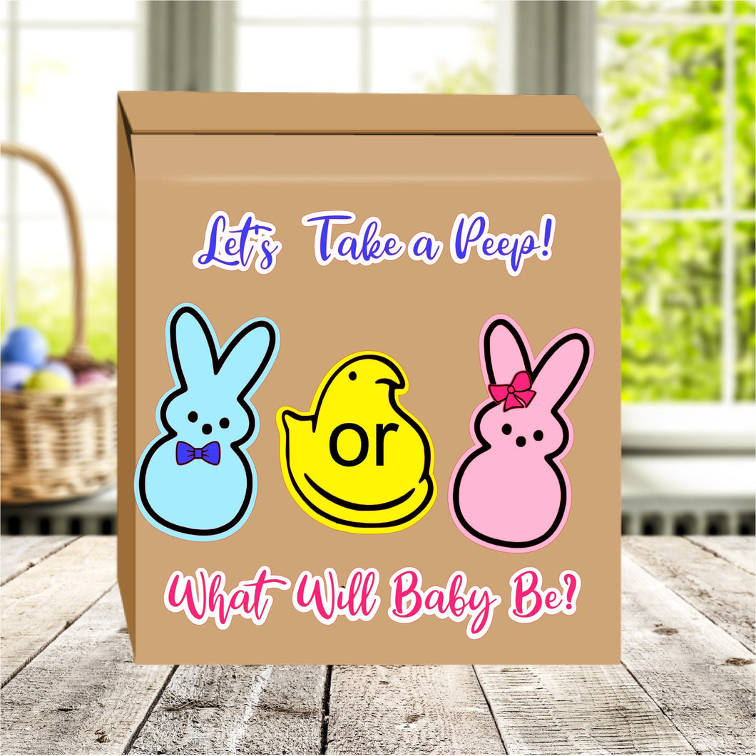 Let's take a peep Gender reveal box