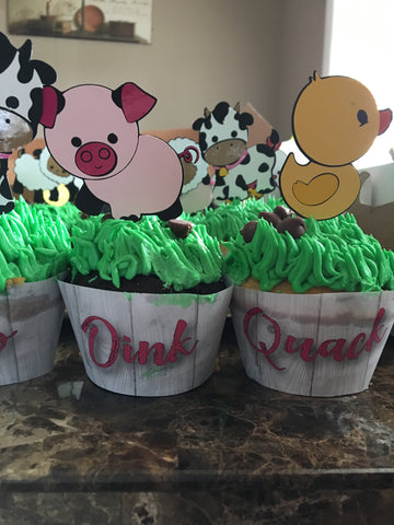Farm Animal Cupcake Wrappers