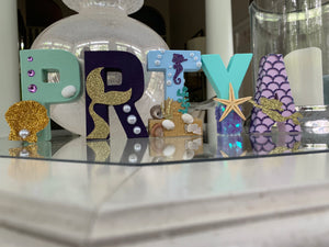 Mermaid Theme Stand Up Letters