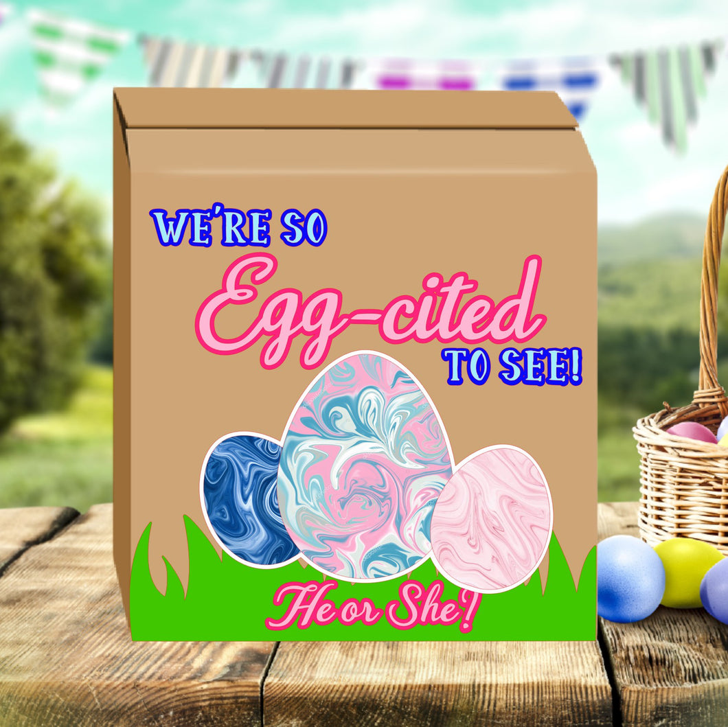 Egg cited to know Gender reveal box