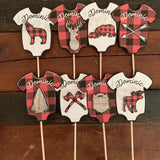 Outdoor adventure Onesie Cake or Cupcake Toppers
