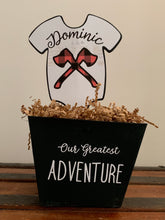 Load image into Gallery viewer, Outdoor Adventure Onesie Centerpieces