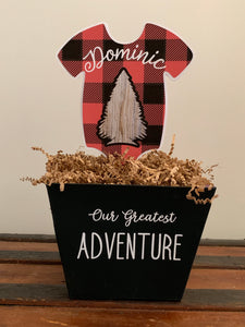Outdoor Adventure Onesie Centerpieces