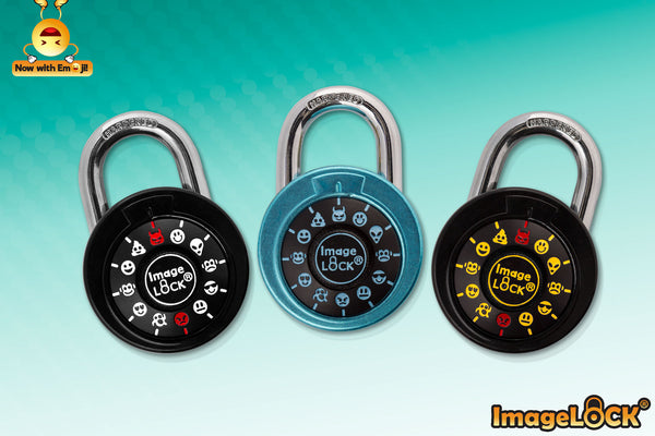 ImageLOCK WITH EMOJIS – THE WORLD'S FIRST EMOJI COMBINATION LOCK! (Patented in USA/China)