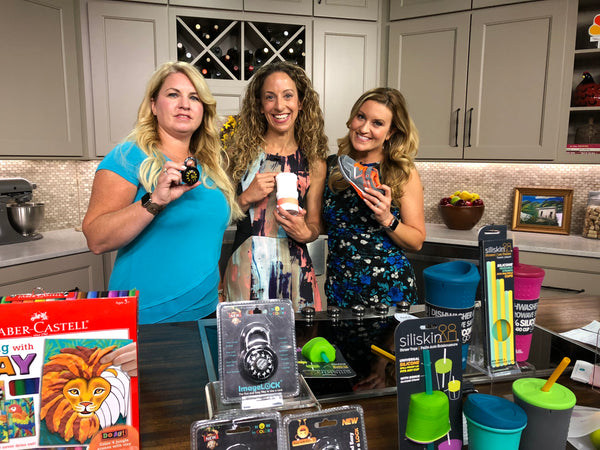Image Combination Lock products were featured on local television talk shows in selected states for back to school products and more!