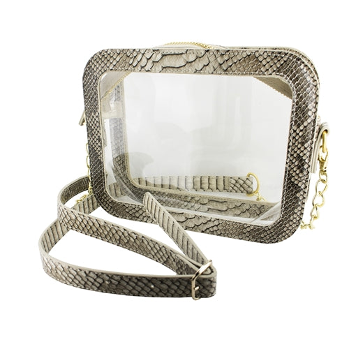 Moondust Snake Clear Crossbody Bag