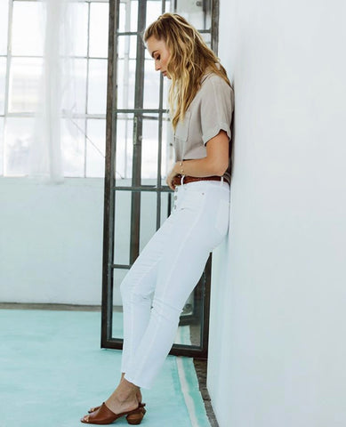 Gisele Optic White Skinny Jean by Dear John Denim