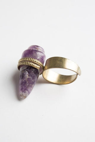 Havana Amethyst Ring by Libby Story