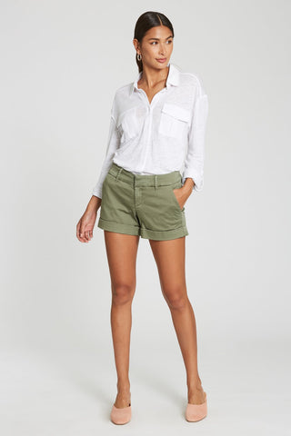 Hampton Midrise Watercress Cuffed Short by Dear John