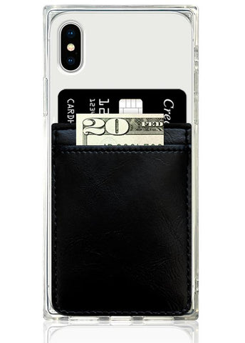 Black Leather Phone Pocket wallet