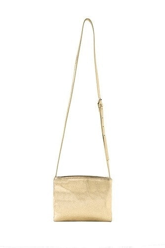 Orla Metallic Crossbody bag by Shiraleah