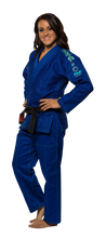 "Load image into Gallery viewer, Fuji ""Blossom"" Women's Blue Jiu Jitsu Gi"