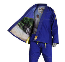 "Load image into Gallery viewer, Ground Game ""Surf Jitsu"" Blue Jiu Jitsu Gi"