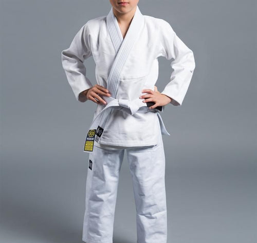 Scramble Standard Issue Semi Custom Kids Jiu Jitsu Gi - White