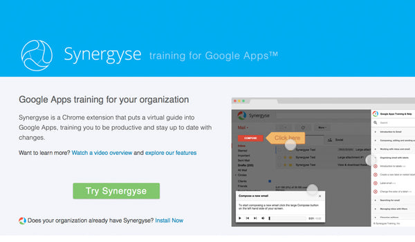 Synergyse - training for Google apps