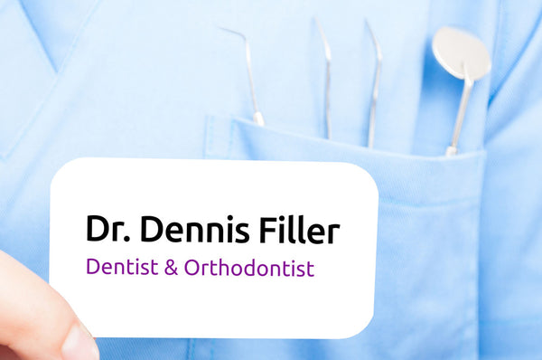 dentist name tag Dennis Filler